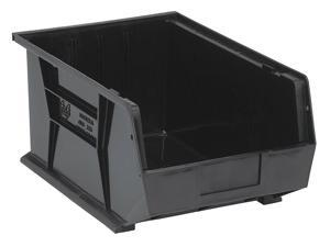 "QUANTUM STORAGE SYSTEMS QUS255BK Black Hang and Stack Bin, 16""L x 11""W x 8""H"