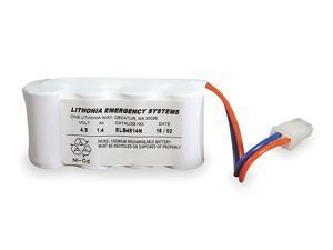 ACUITY LITHONIA ELB 4814N Battery,Nickel Cadmium,4.8V,1.4A/HR.