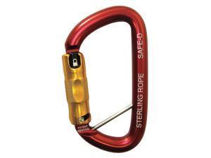 STERLING ROPE HWSAFEDTL Carabiner, Auto-Lock, Aluminum, Red
