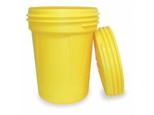 EAGLE 1600SL Open Head Salvage Drum, Polyethylene, 30 gal, Unlined, Yellow