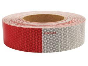 """Oralite Reflective Tape, 5 yr 11"""" Red/7"""" White  Polyester  18811"""