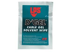 LPS 61244 D'Gel(R),Solvent Degreaser Wipes,Orange