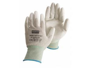 Antistatic Gloves, Gray/White, Nylon/Thunderon® Shell, Size S, Rolled Cuff