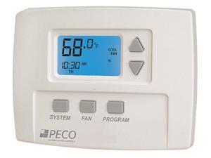 PECO TA180-001 Fan Coil Thermostat,Digital,Programmable