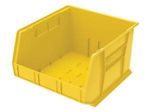 "AKRO-MILS 30270YELLO Yellow Hang and Stack Bin, 18""L x 16-1/2""W x 11""H, Outside"