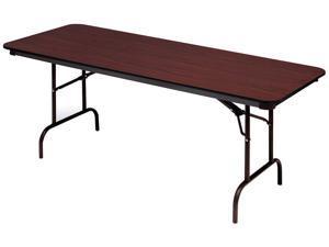 Premium Wood Laminate Folding Table, Rectangular, 72w x 18d x 29h, Mahogany