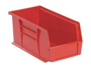 """QUANTUM STORAGE SYSTEMS QUS230RD Red Hang and Stack Bin, 10-7/8""""L x 5-1/2""""W x"""