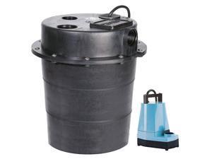 LITTLE GIANT WRS-5 Sink Pump System,1/6 HP,115V,5A,Aluminum