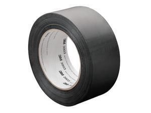 "3m Light-Duty Duct Tape, 4"" X 50 yd., 6.30 mil Thick, Black Vinyl, 1 EA"