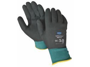 Honeywell Coated Gloves, Nitrile, Green/Black, M, PR Green/Black NF35F/8M