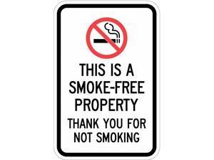 LYLE T1-1079-EG_12x18 Property Sign, Smoke-Free,18 x 12 In