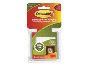 COMMAND 17205 Small Picture Hanging Strip,PK8