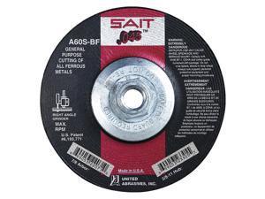 UNITED ABRASIVES-SAIT Abrsv Cut Whl,9In D,0.090In T,5//8In AH 20919