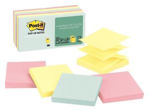 "Post-it Pop-Up Sticky Notes,  PK 12 3"" x 3"" Marseille   R330-12AP"