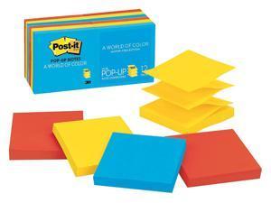 "Post-it Pop-up Sticky Notes, 3x3 In., Jaipur, PK12 3"" x 3"" Jaipur   R330-12AU"
