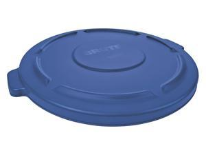 RUBBERMAID 1779731 Brute Trash Can Top,Flat,Snap-On Closure,Blue