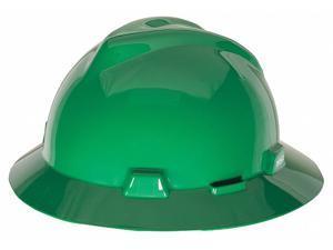Msa Hard Hat Green  Includes Hard Hat, Suspension, Instructions 454735