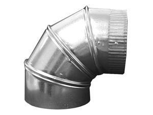 GREENSEAM GRAE490GA26 90 Degree Elbow, 4 in Duct Dia, Galvanized Steel, 26 GA,