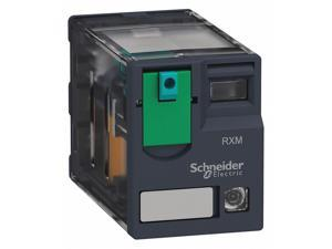 SCHNEIDER ELECTRIC RXM4AB2BD Plug In Relay,14 Pins,Square,24VDC