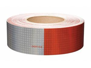 """Oralite Reflective Tape 6"""" Red/6"""" White  Polyester  18697"""