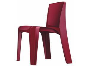 CORTECH 86484-P Stacking Chair, RazorBack Series, Polypropylene Plum
