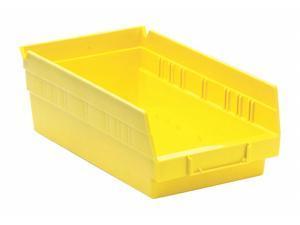 "QUANTUM STORAGE SYSTEMS QSB102YL Yellow Shelf Bin, 11-5/8""L x 6-5/8""W x 4""H"