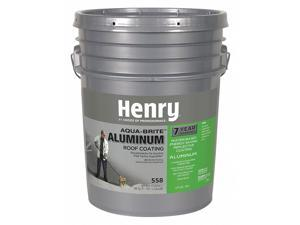 HENRY HE558018 Aluminum Roof Coating, 5 gal, Pail, Silver