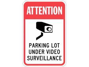 LYLE T1-1088-HI_12x18 Sign,Parking Lot Under Video,18 x12 In