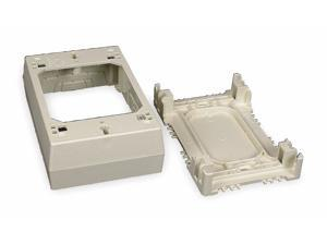 Legrand PVC Device Box For Use With 400, 800 and 2300 Raceways, Ivory PVC 2347