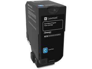Lexmark 74C10C0 Return Program Toner Cartridge - Cyan