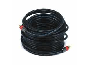Monoprice 50ft High-quality Coaxial Audio/Video RCA CL2 Rated Cable - RG6/U 75ohm (for S/PDIF, Digital Coax, Subwoofer &