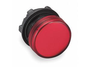 Schneider Electric Pilot Light Head, Red, LED 22mm Red   ZB5AV043