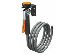 Single Head Drench Hose, Wall Mount, 8 ft. Hose Length, Self-Closing