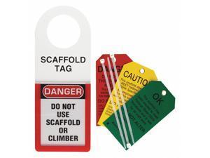 BRADY 48112 Scaffold Stat Hldr and Tag,12 x 4-1/2 In