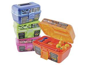 South Bend WG-TB88 Orange Worm Gear Kit w/Compact Tackle Box (88 Pieces)