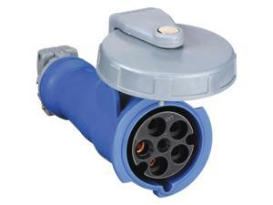 60 Amp, 3Y-Phase Zytel 801 Nylon Watertight Pin and Sleeve Connector, Blue