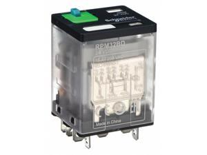 SCHNEIDER ELECTRIC RPM32BD Plug In Relay,11 Pins,Square,24VDC