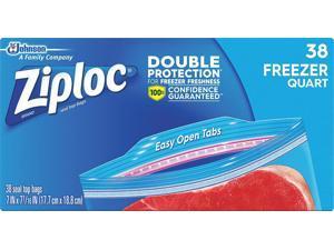 "ZIPLOC 314444 Slide Seal Reclosable Bag 7-7/16"" x 7"", 2.6 mil, Clear, Pk38"