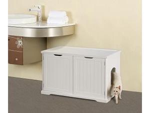 Cat Washroom Bench White