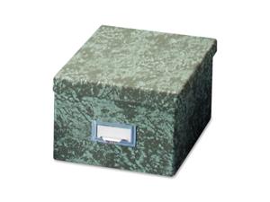 "Globe Weis Card File w/Lid 1000 Card Capacity 6""x9"" Agate Green 96GRE"