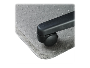 "Lorell Economy Chairmat Low Pile Std. Lip 19""x10"" 36""x48"" Clear 02156"