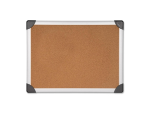 Lorell Cork Board 8'x4' Aluminum Silver/Brown 19194