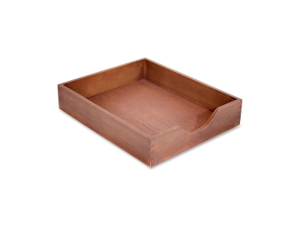 Carver Wood Products Wood Desk Tray Letter Size Walnut CW07212
