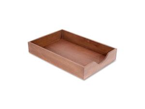Carver Wood Products Wood Desk Tray Legal Size Walnut CW07222