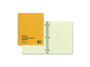 """Rediform 08851 National Green Eye Ease Wirebound Quad Notebook 80 Sheets Letter 8.50"""" x 11"""" - 1Each - Green Paper"""