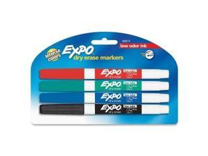EXPO Dry-erase Markers Fine Point Nontoxic 4/PK Assorted 86674K