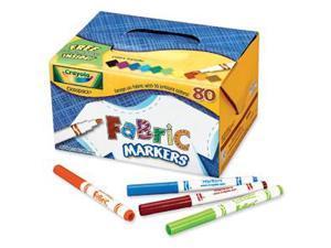 Binney & Smith 588215 Fabric Marker Classpack  Ten Assorted Colors  80/box