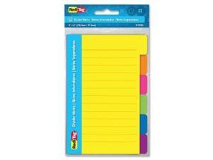 Redi-Tag 4x6 Sticky Ruled Divider Notes - 72 PK/CT