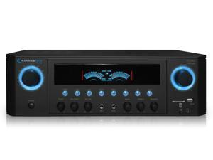 New Technical Pro 1000W Professional Audio Receiver with USB/SD Card Input, MP3 (AUX), 2 Mic Inputs, IPod/ IPhone Compatible, Recorder, & Wireless Remote