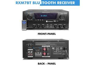 Technical Pro Professional Bluetooth Receiver with USB & SD Card Inputs, 1000 Watts Peak Power, 2 Mic Inputs, iPod/ iPhone, Compatible Recorder, Wireless Remote Control - for Home Speaker